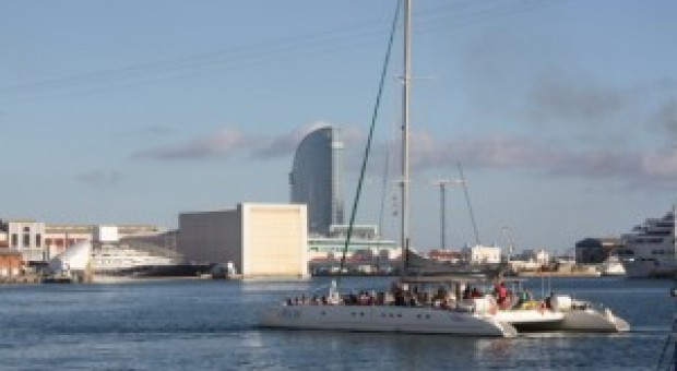 Barcelona from the Sea – by catamaran